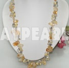 Wholesale pearl and citrine necklace