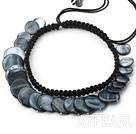 Wholesale black shell necklace