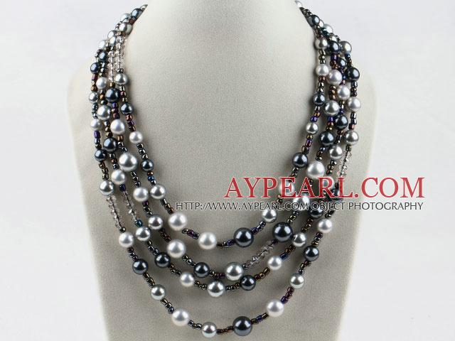 multi strand snäckskal pärlor halsband 14fbd8debecd3