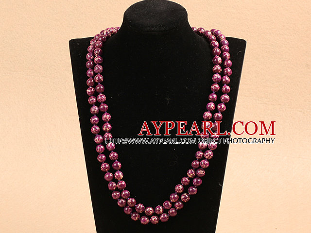 3 strand red pearl and rose quartze necklace