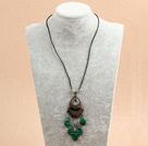 fashion pearl crystal and multi color gemstone necklace with extendable chain