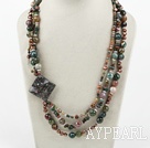 Wholesale Big Style Multi Strand India Agate Necklace