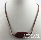 17.7 iches fancy red agate necklace with extendable chain