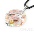 Wholesale Arkshell with flower pendent