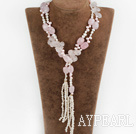 Wholesale pearl rose quartz necklace