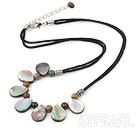 Mother of pearl Indian agate necklace