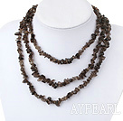 Wholesale irregular natural smoky quartz necklace