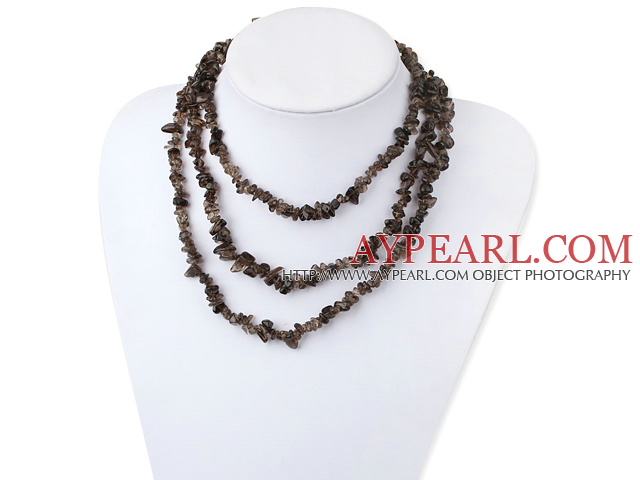irregular natural smoky quartz necklace