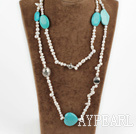 Wholesale baroque pearl turquoise necklace