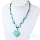 Amazon gem turquoise tiger eye necklace