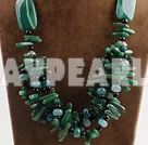 Wholesale big hit Africa aventurine and green agate neckalce