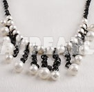 blanc 10-12mm voir shell perles collier
