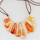 primary color agate neckalce with extendable chain