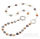 Wholesale fashion long style party jewelry shell necklace with big loops