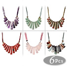 Wholesale new style colored glaze neckalce with extendable chain