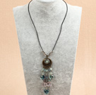 pearl and aventurine classic necklace with spring clasp