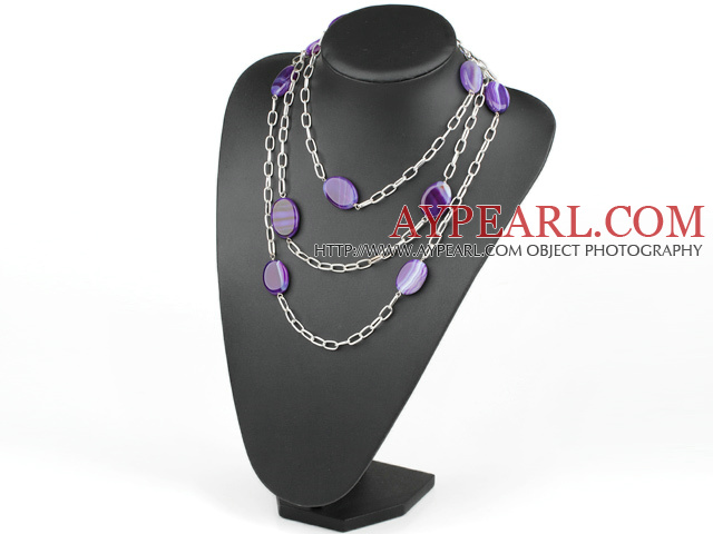 ng pourpre agate necklace collier agate