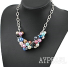 popular colorful acrylic necklace