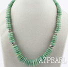 Wholesale Single Strand Aventurine Disc Chips Necklace