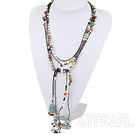 multi color pearl and glass beads necklace
