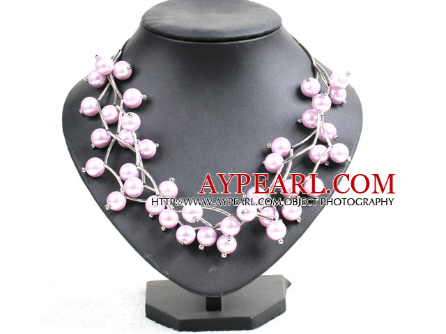 pink agate purple jade necklace with moonlight clasp
