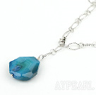 Wholesale simple and fashion blue agate necklace/pendant