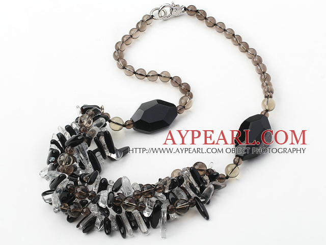 hot style 23.6 inches natural crystal necklace