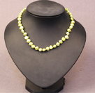 Simple Trendy Style Natural Kelly Green Pearl Necklace