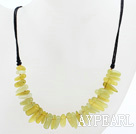 Wholesale New Design Branch Shape Lemon Jade Necklace with Black Thread