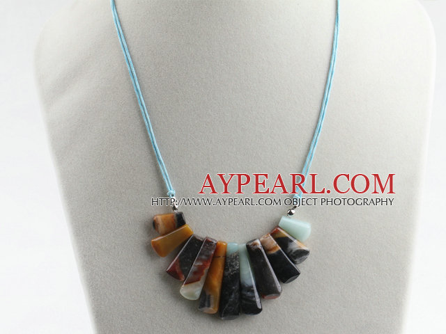 17.7 inches lovely amazon stone necklace with extendable chain