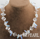 Wholesale 17.7 inches clear crystal and opal necklace