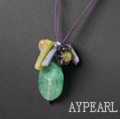 Wholesale crystal and agate necklace with extendable chain