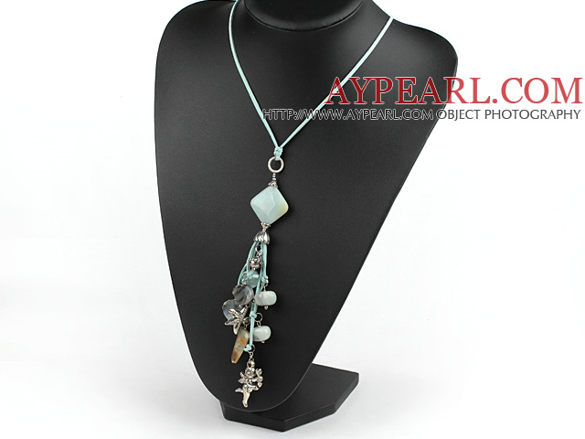 Amazon stone necklace with extendable chain