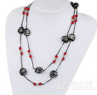 Wholesale fashion jewelry crystal and colored glaze necklace
