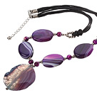 Wholesale Brazil agate necklace with extendable chain