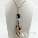 Wholesale 23.6 inches lovely tiger eye angle charm pendant necklace with extendable chain