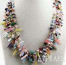 gorgeous multi strand colorful gemstone necklace