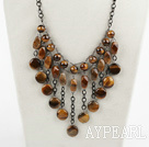 Wholesale admirably tiger eye necklace with extendable chain
