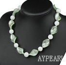 Wholesale brand new colored glaze necklace with moonlight clasp