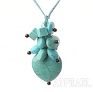 garnet and turquoise necklace with extendable chain