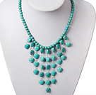 Wholesale fashion long style crystal and colored glaze necklace