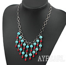 Wholesale stunning handcrafted coral turquoise necklace