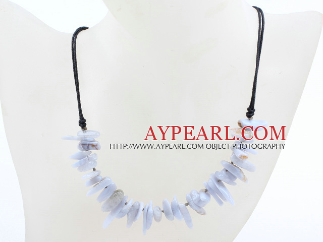 New Design Branch Shape Purple Jade Necklace with Black Thread