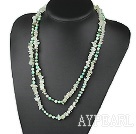 Wholesale Assorted Green Freshwater Pearl and Serpentine Jade Long Style Necklace