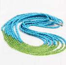 Fashion Style Eight Layer 4mm Glass Beads Necklace