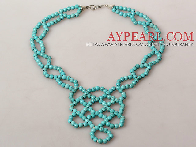 Fashion Style Turquoise Knot Necklace