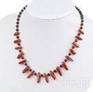 Wholesale Garnet and red jasper necklace with lobster clasp