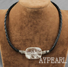 Wholesale white crystal necklace with extendable chain