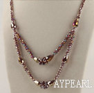 double strand sparkly crystal necklace with extendable chain