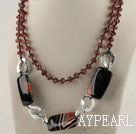 new chunky style rutilated agate and crystal necklace